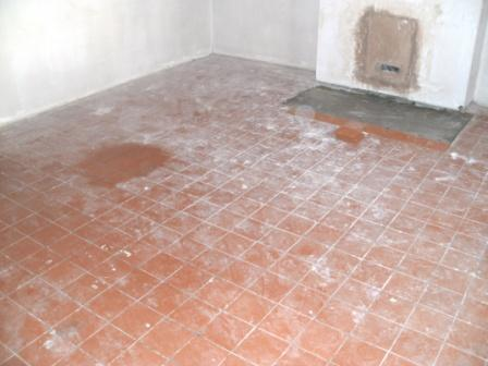 Quarry Tiled Floor Before Cleaning and Sealing