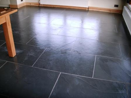 Slate Floor After cleaning and sealing