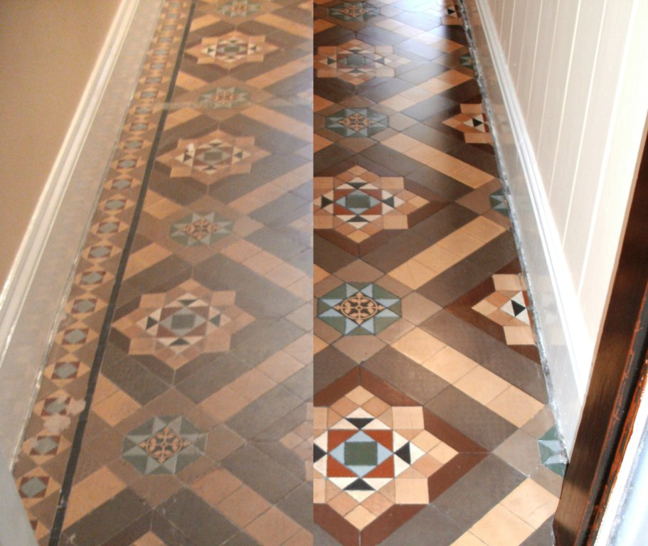 Victorian Floor Before and After