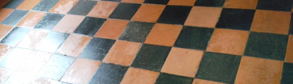 Victorian Quarry Tiled Floor Restored in Telford