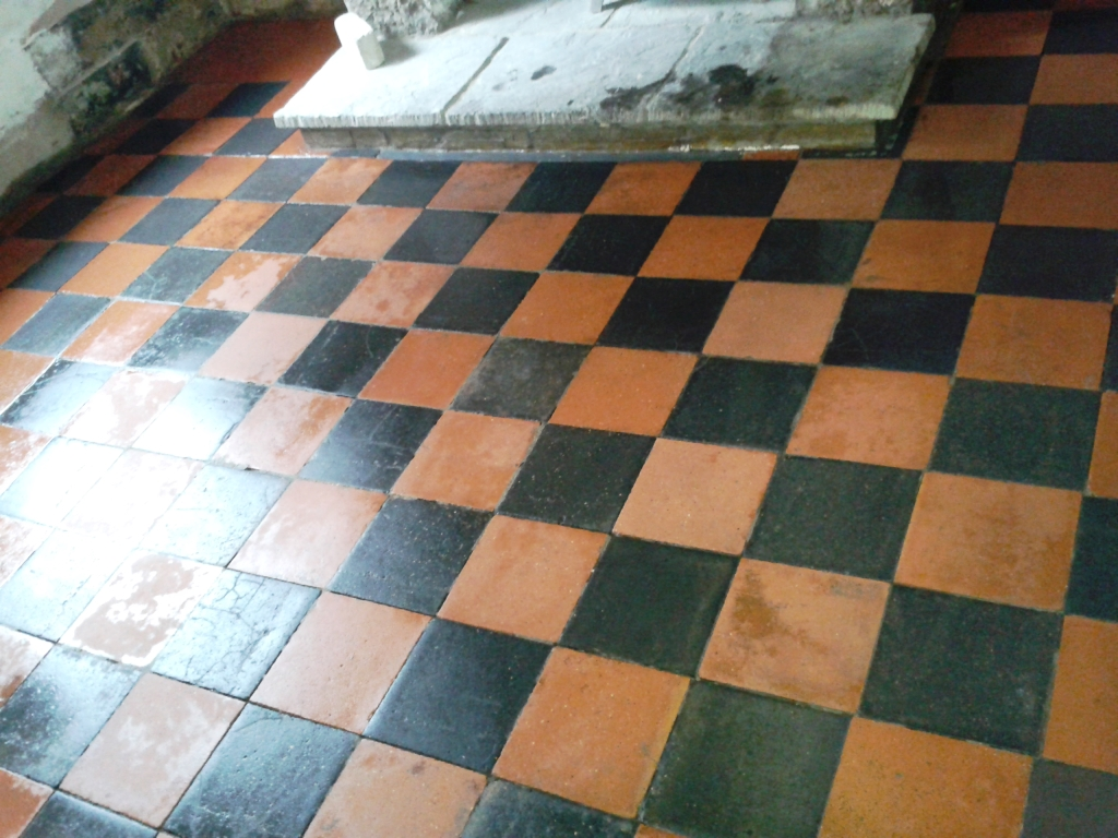 Victorian Quarry Tiles Telford After cleaning