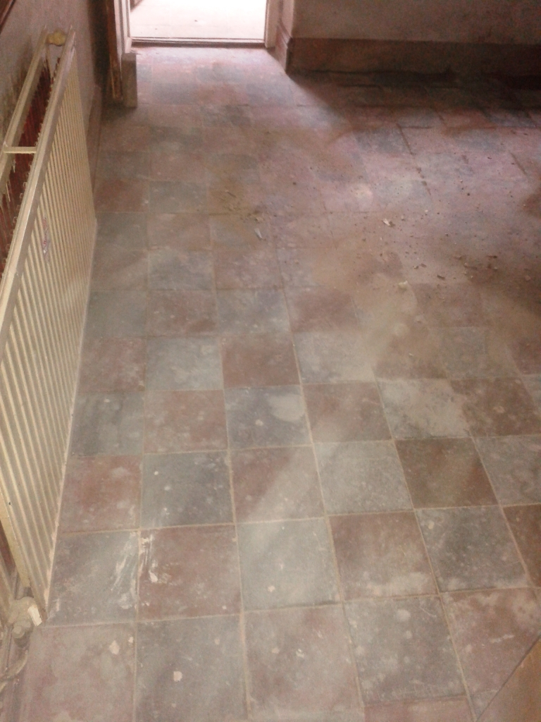 Victorian Quarry Tiles Telford before cleaning