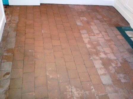 Red Black Quarry Tiles Oswestry After Cleaning