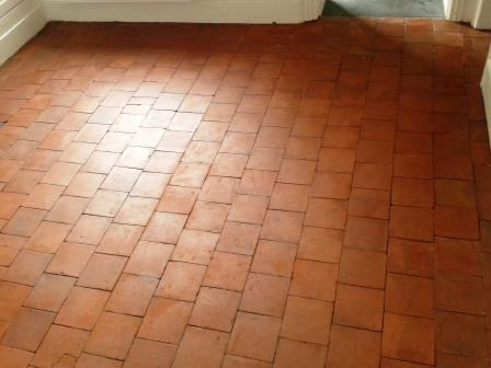 Red Black Quarry Tiles Oswestry After Sealing