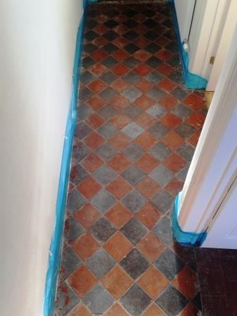 Red Black Quarry Tiles Oswestry Before