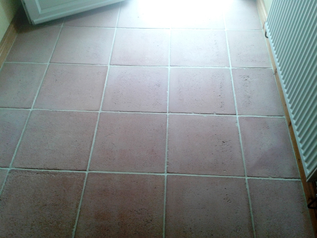 Terracotta Tile After Cleaning in Shrewsbury