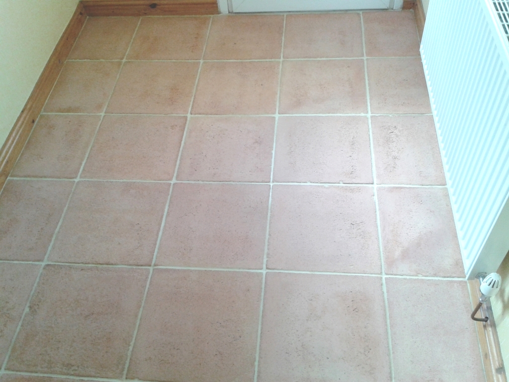 Terracotta Tile After Sealing in Shrewsbury