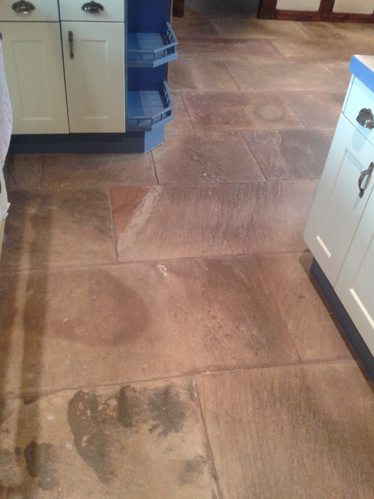 Indian Sandstone in Cleestanton Before Cleaning