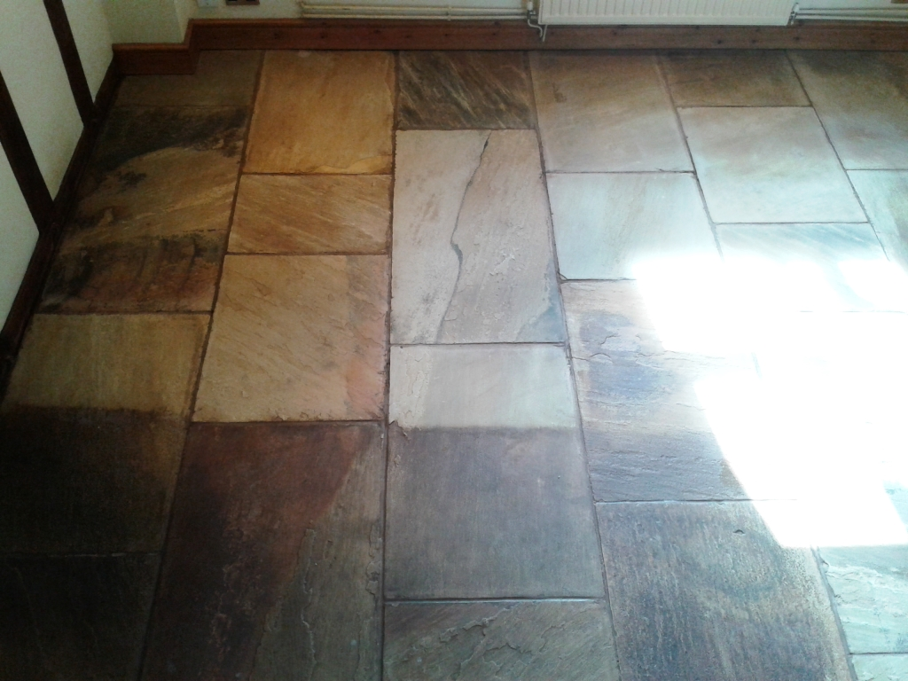 Indian Sandstone in Cleestanton During Cleaning