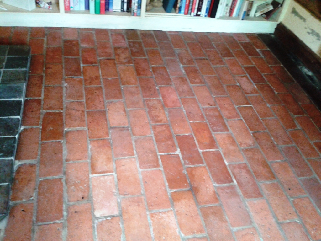 Quarry Tiled Floor Cleaning Alveley During