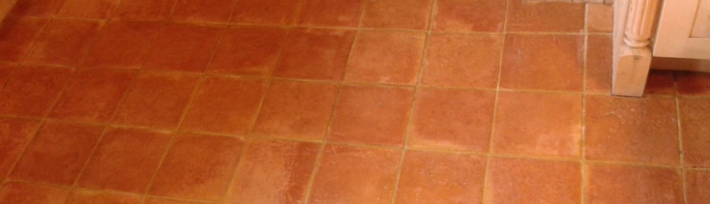 Quarry and Terracotta Tiled Floors Restored in Alveley