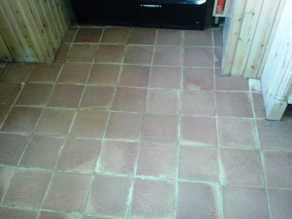 Terracotta Tiled Floor Cleaning Alveley During