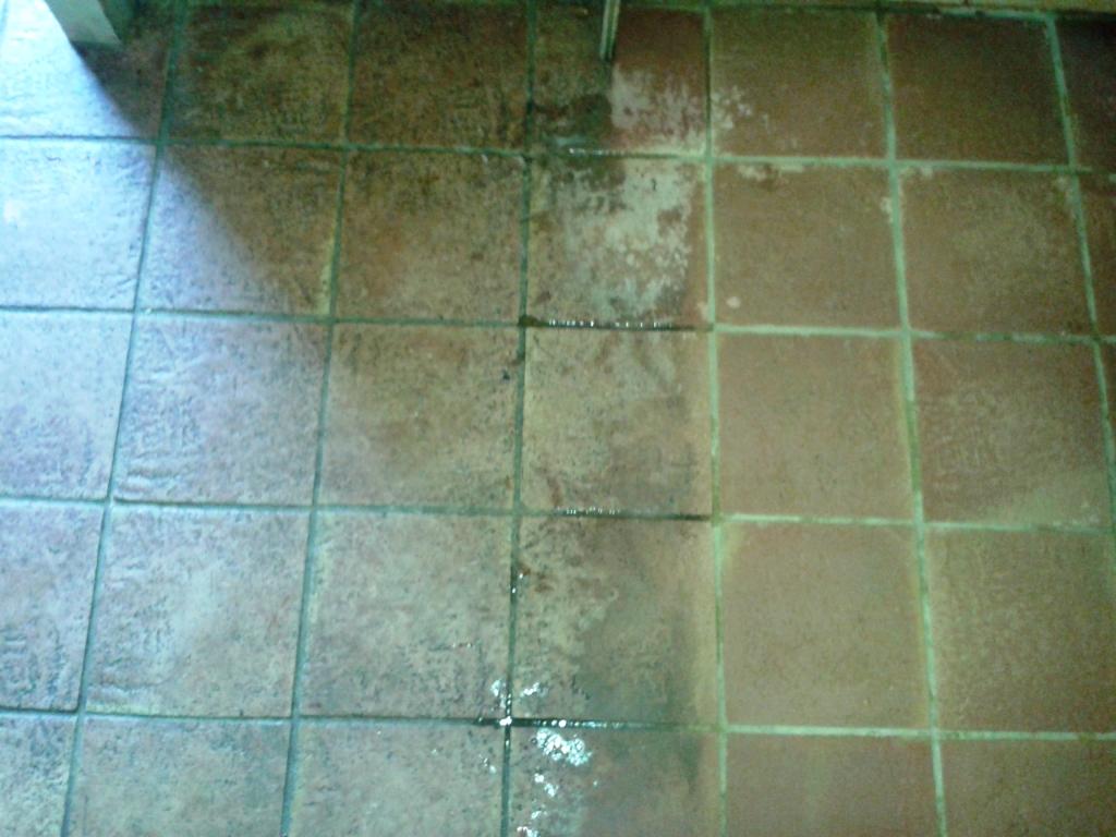 Terracotta Tiled Floor Cleaning Alveley During