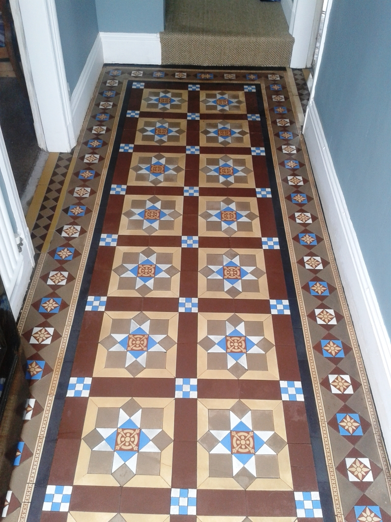 Floor restoration cleaning and maintenance advice for victorian victorian tiled hallway whitchurch after doublecrazyfo Image collections