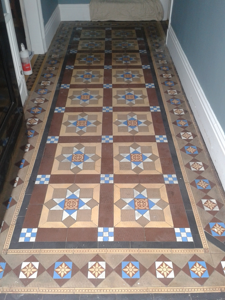 Victorian Hallway Tiles Restored In Whitchurch