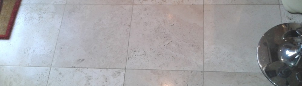 Travertine Tiled Floor Refurbished in Telford