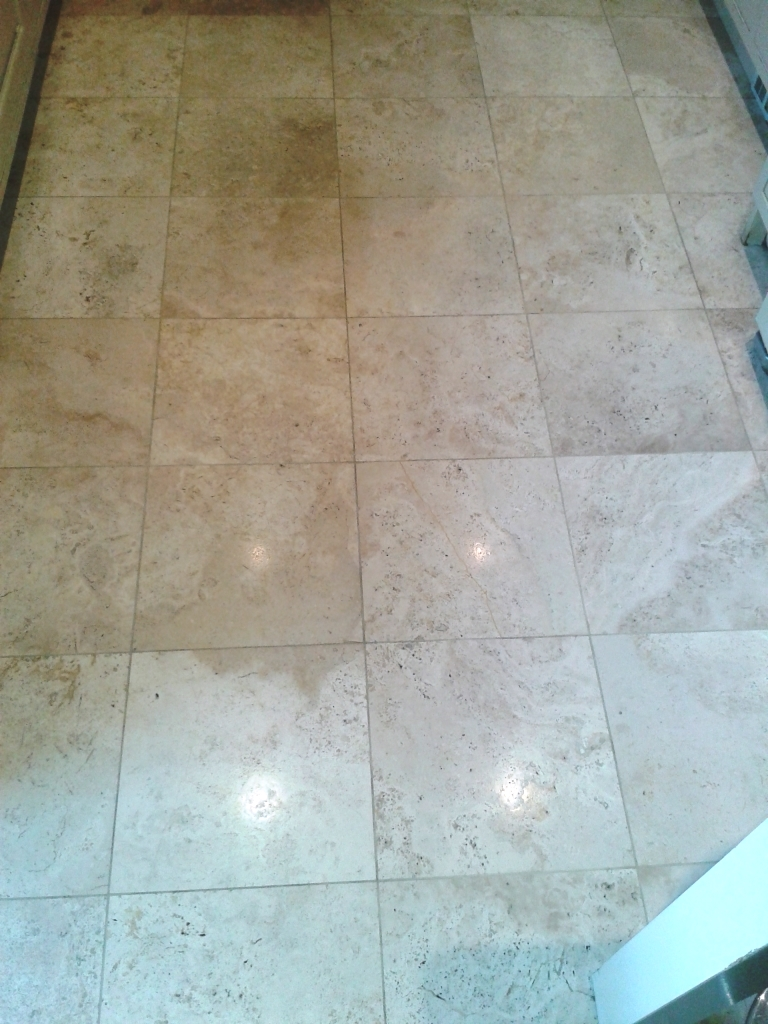 Travertine Tile Cleaning Telford After
