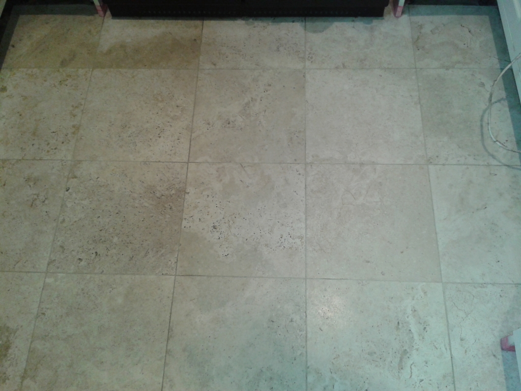Travertine Tile Cleaning Telford Before