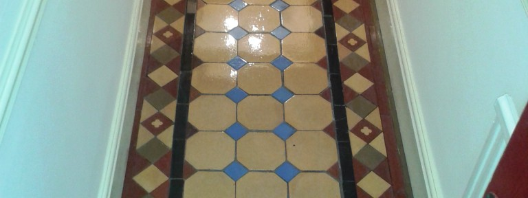 Victorian Tiled Hallway and Terracotta Kitchen Floor in Shrewsbury