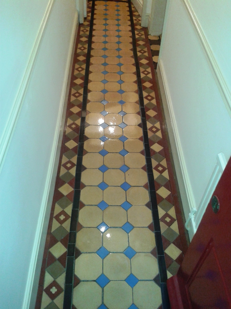 Victorian Tiled Floor After Cleaning in Shrewsbury