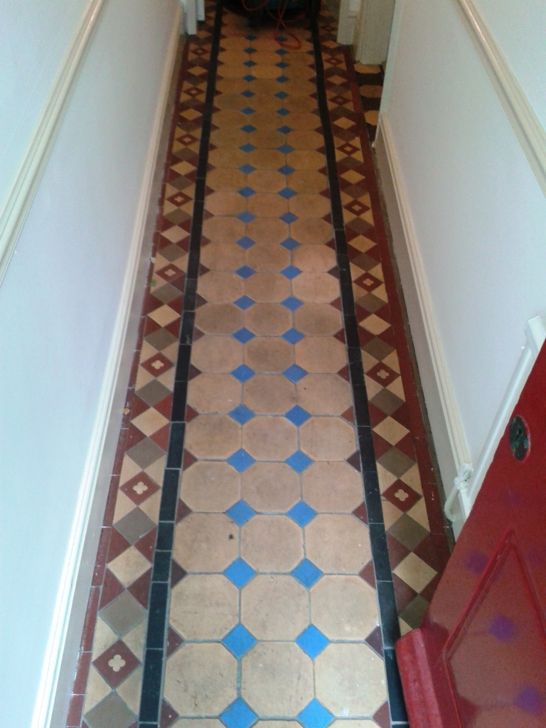 Victorian Tiled Floor Before Cleaning in Shrewsbury