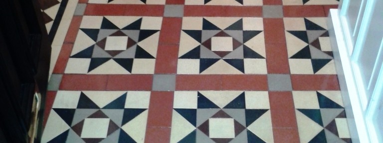 Victorian Tiled Hallway Renovated in Telford