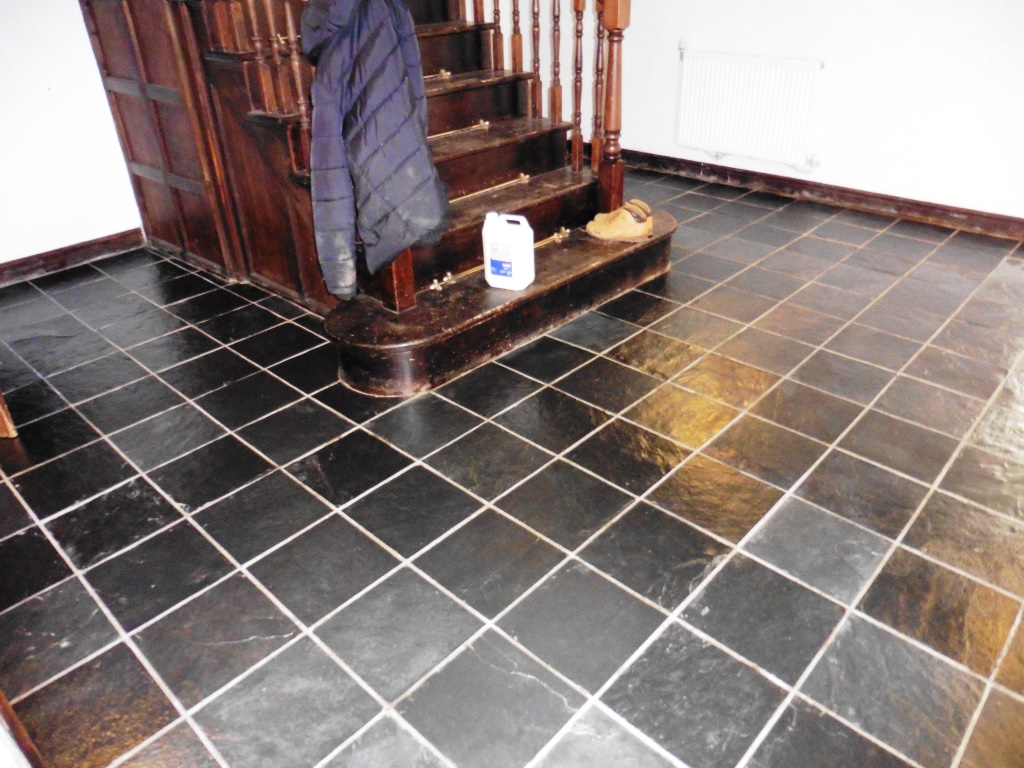Riven Slate Tiled Floor Ince After Cleaning
