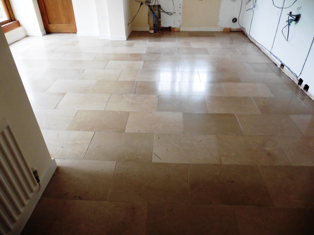 Limestone Floor in Shrewsbury Kitchen After