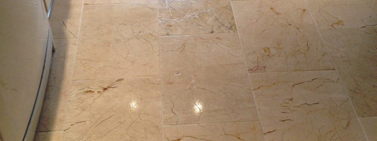 Marble Tiled Floor Restoration in Albrighton
