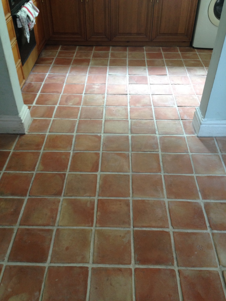 Mexican Terracotta Tiles After Cleaning in Wellington