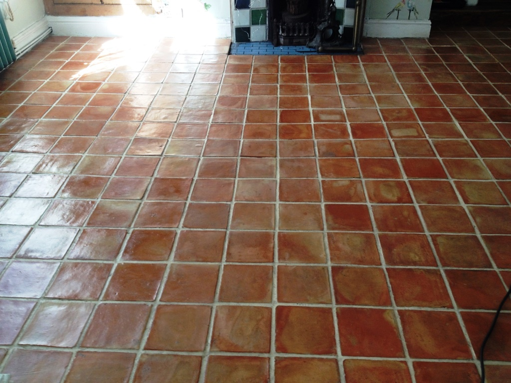 Mexican Terracotta Tiles After Sealing in Wellington