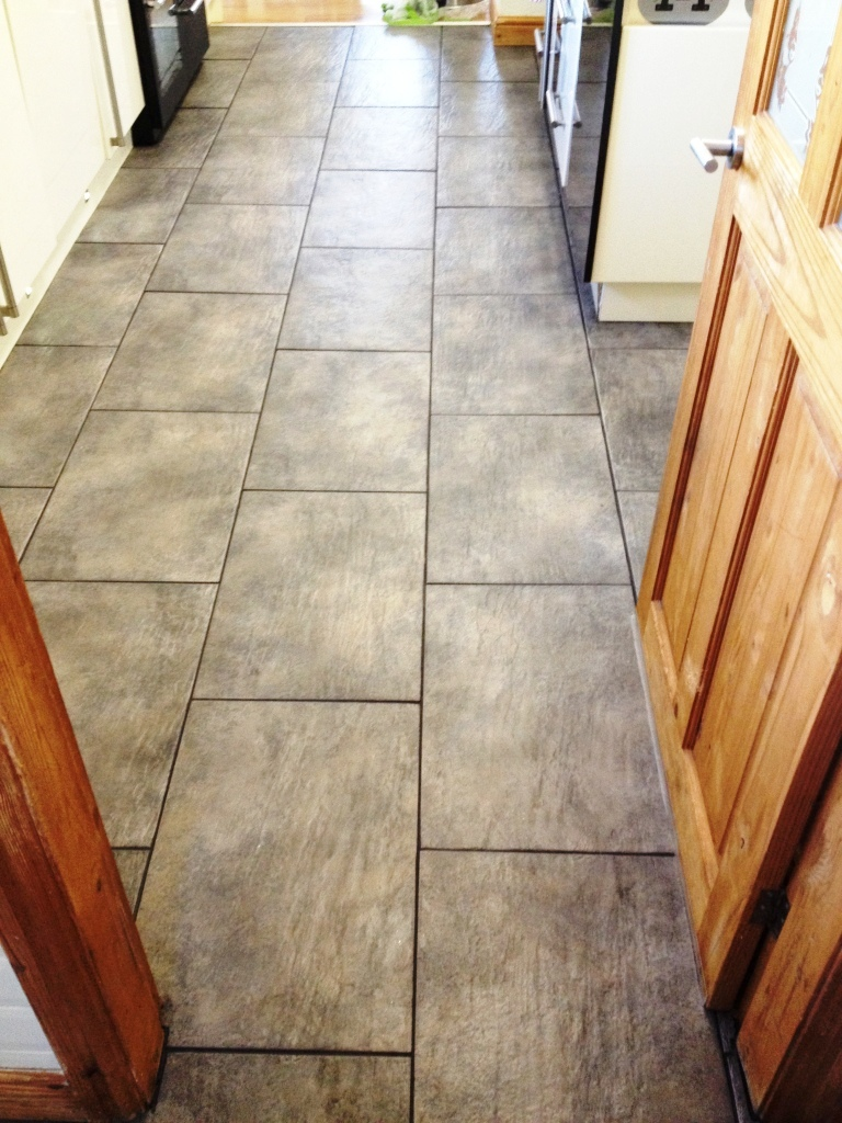 Ceramic Tiled Floor After Cleaning in Mould