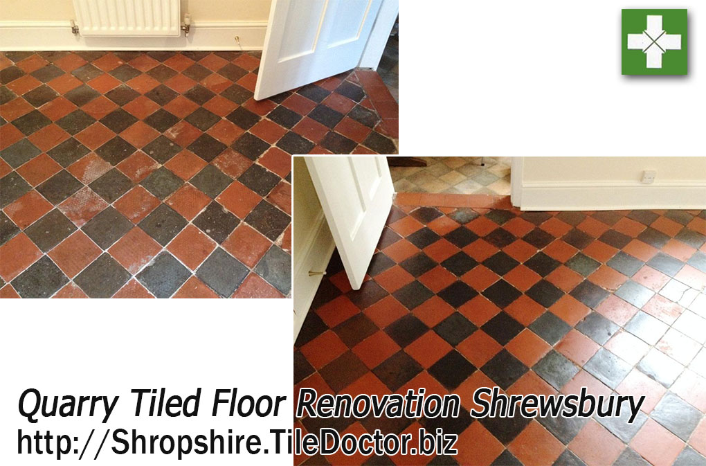 Renovating Dull and Dirty Quarry Tiles in Shrewsbury