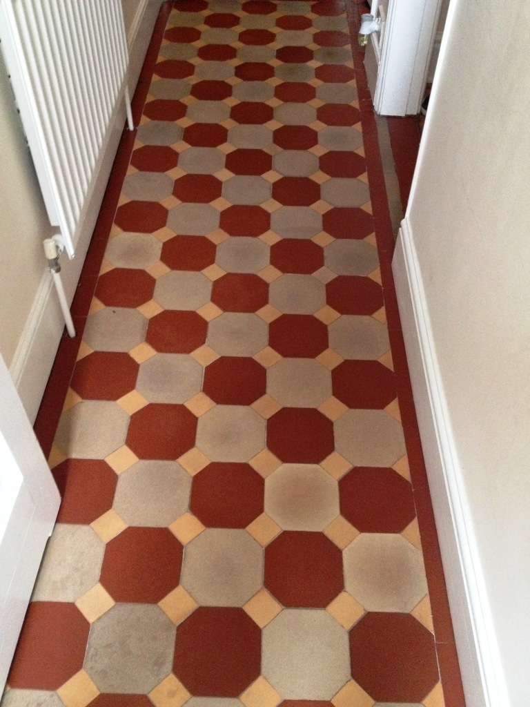 Victorian Tiled Hallway After Cleaning in Shrewsbury