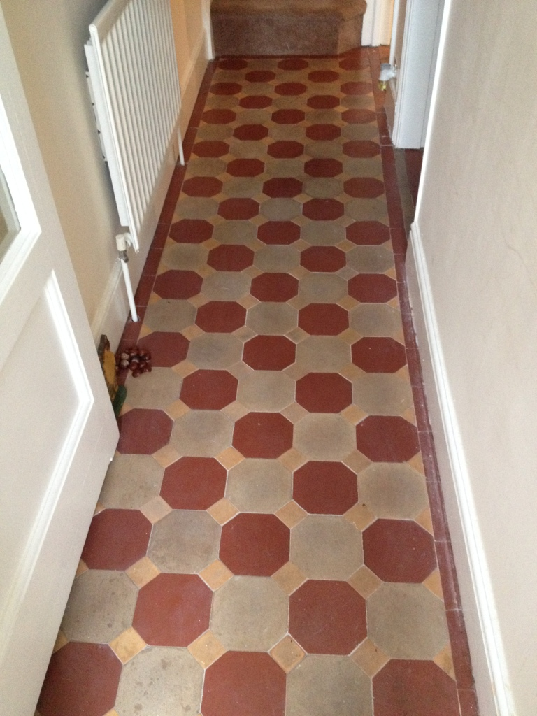 Victorian Tiled Hallway Before Cleaning in Shrewsbury