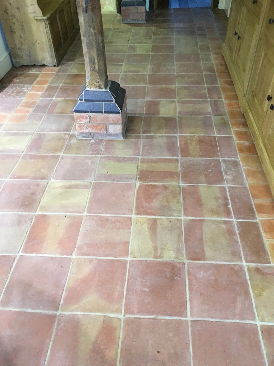 Mexican Terracotta Tiled Floor After Cleaning Shrewsbury