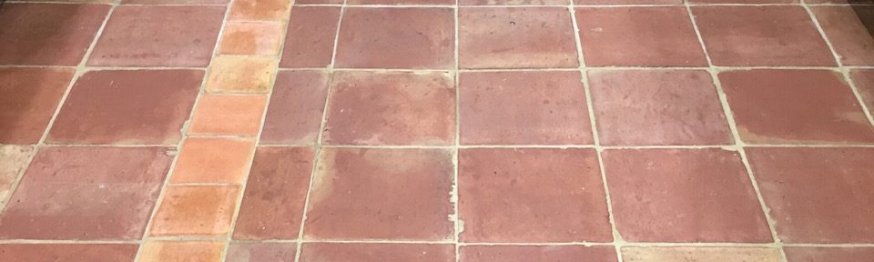 Mexican Terracotta Tiles Deep Cleaned and Sealed in Shrewsbury