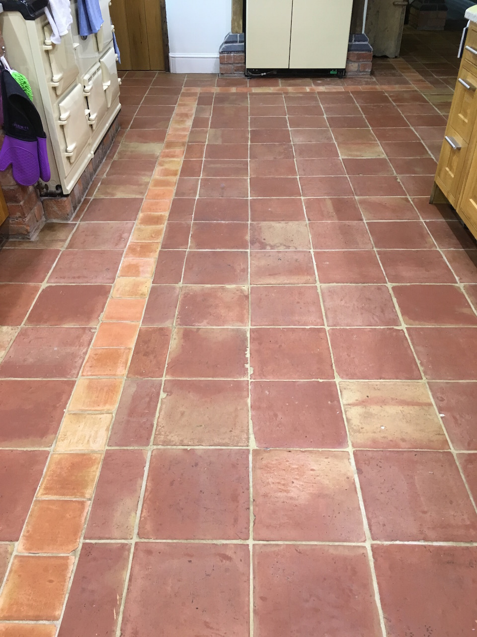 Mexican Terracotta Tiled Floor After Sealing Shrewsbury