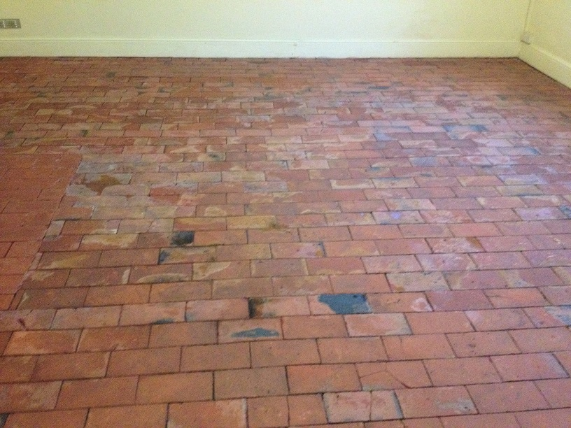 Brick Pattern Quarry Tiled Floor After Renovation Much Wenlock
