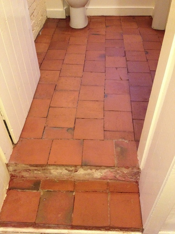 Quarry Tiled Floor After Renovation Much Wenlock