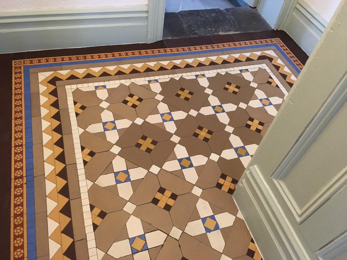 Victorian Tiled Floor After Cleaning Oswestry