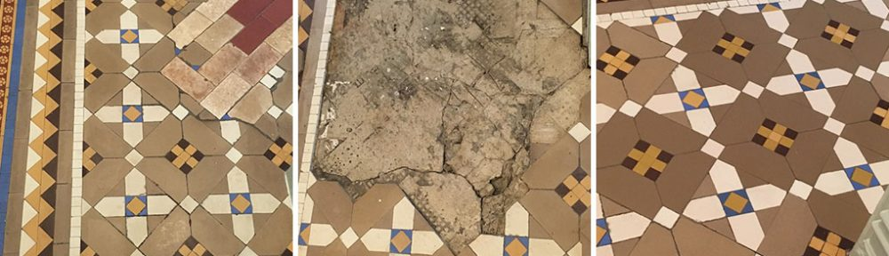 Victorian Tiled Hallway Floor Repair Restorations Oswestry