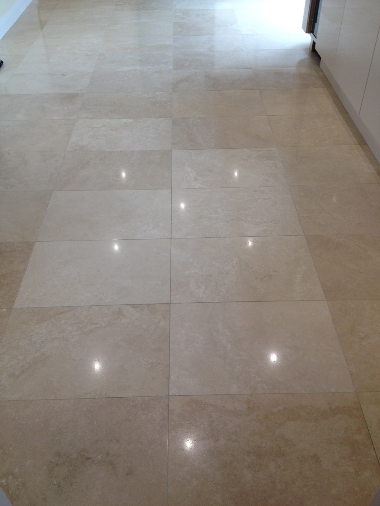 Travertine Floor After Polishing in Priorslee Telford