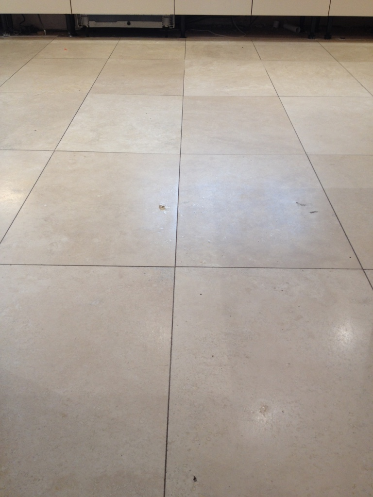 Travertine Floor Before Polishing in Priorslee Telford