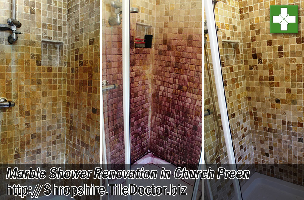 Mosaic Marble Shower Tiled Renovation Church Preen
