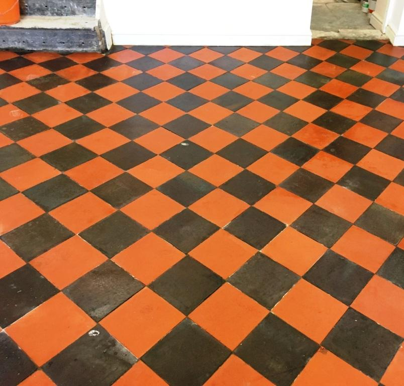 Basement Quarry Tiled Floor After restoration Llangollen