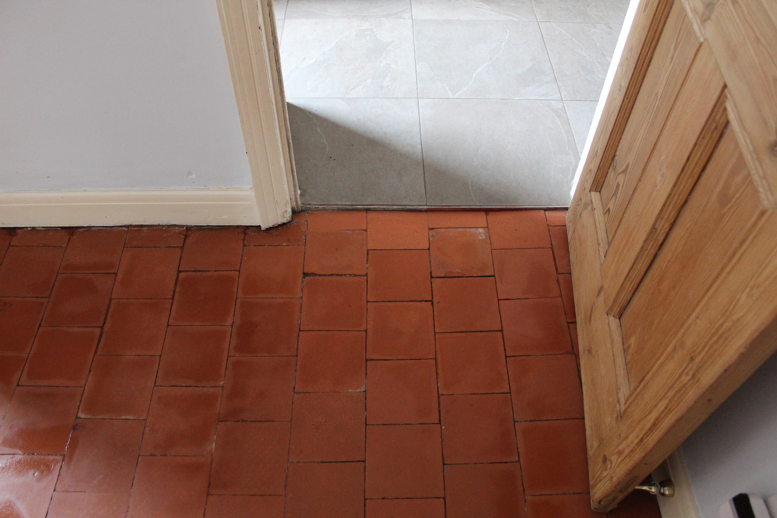 Painted Quarry Tile Floor After Restoration Bayston Hill
