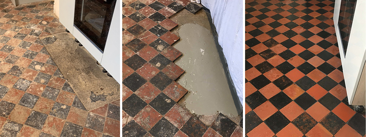 Quarry Tiled Floor Repaired and Restored in Oswestry