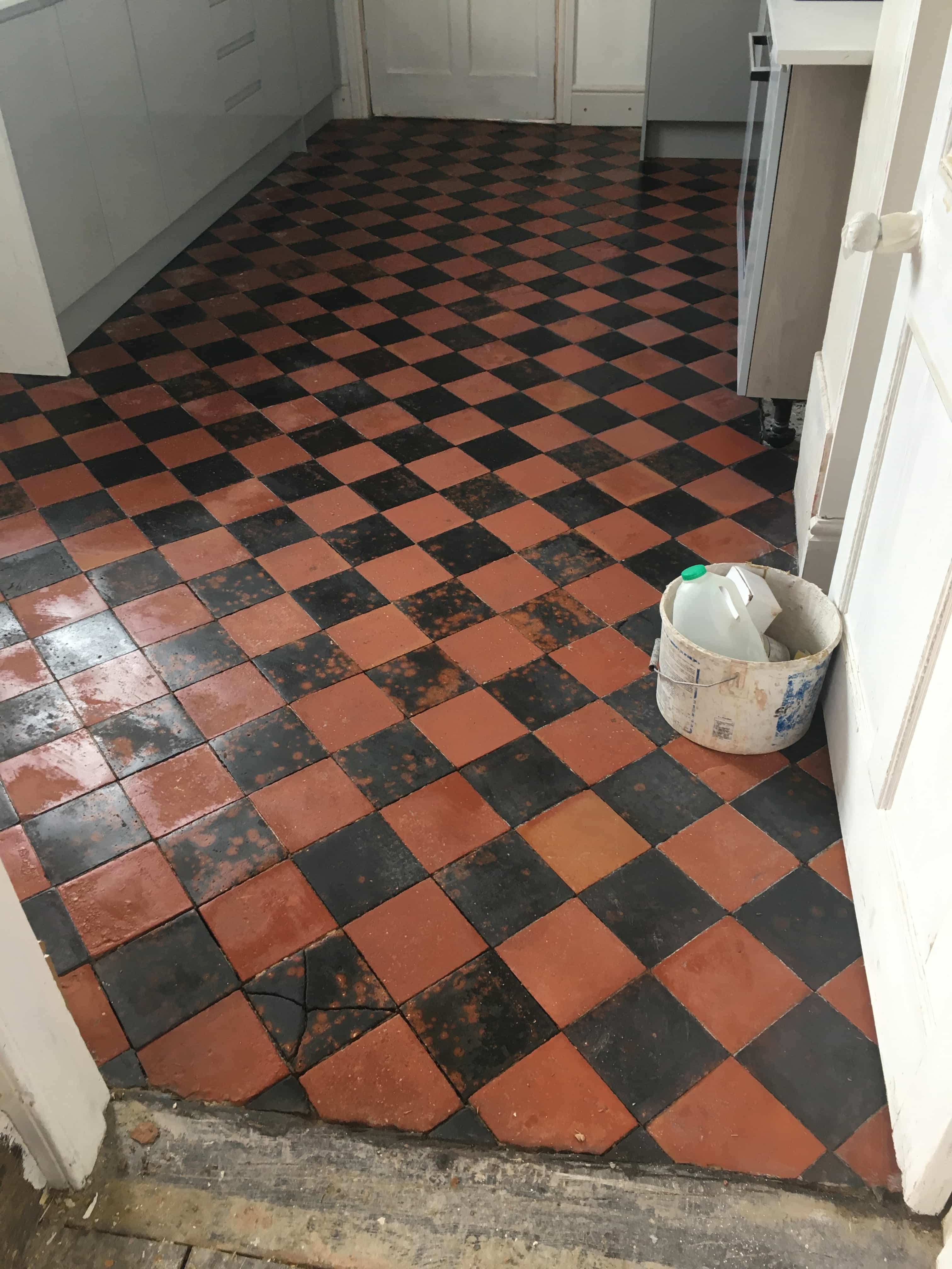 Quarry Tiled Kitchen Floor Oswestry After Cleaning
