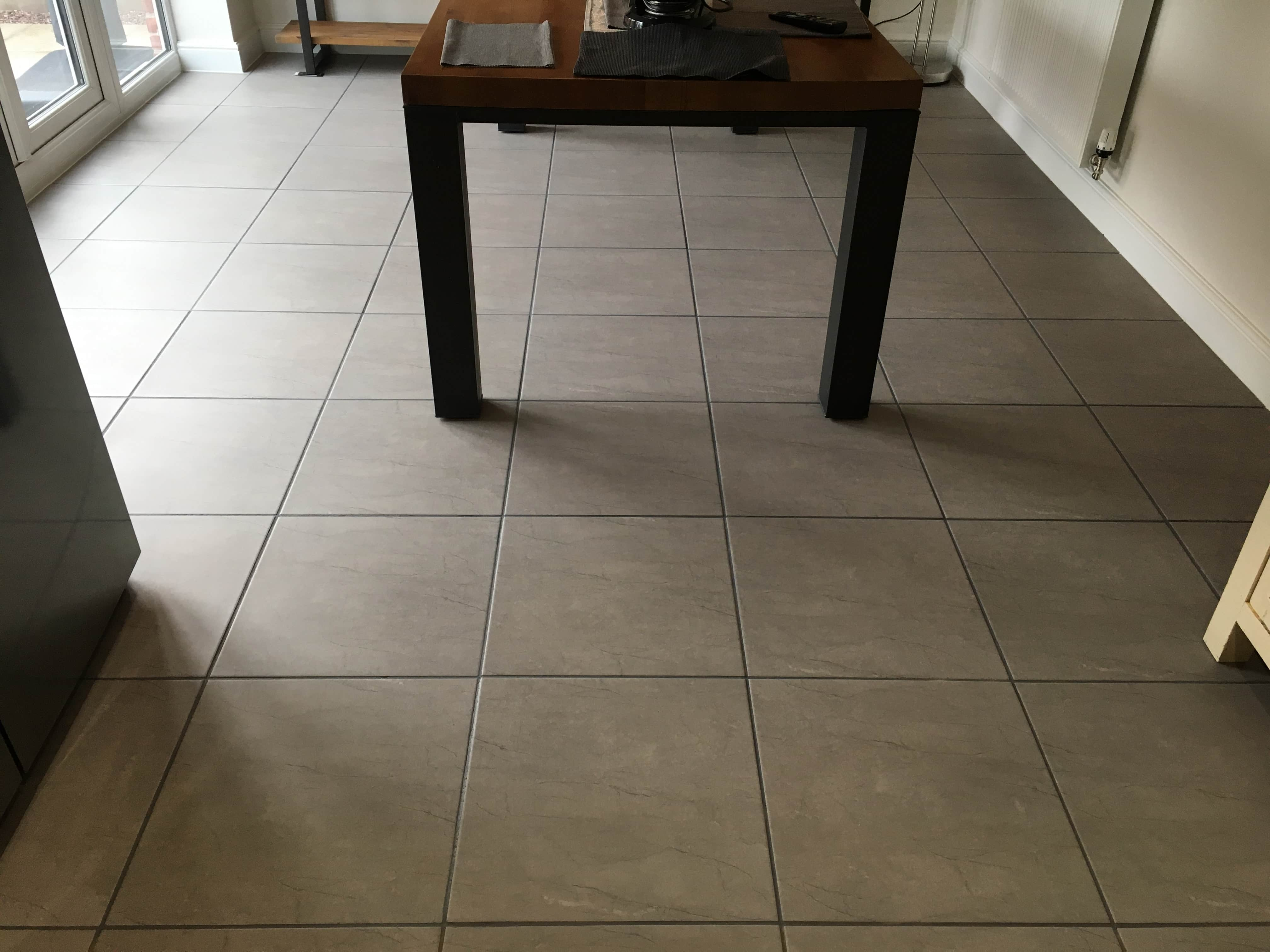 Ceramic Tiled Floor After Grout Colouring Shrewsbury